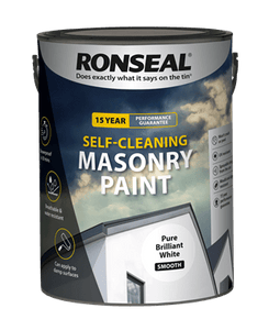 Ronseal self cleaning masonry paint 5lt White