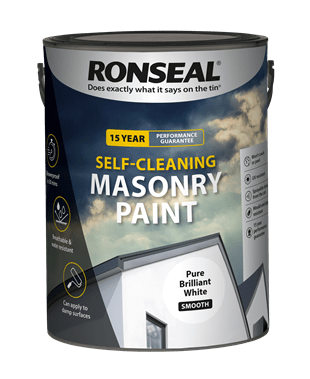 Ronseal self cleaning masonry paint 5lt Warm White
