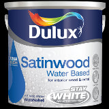 Dulux Water Based Satinwood (2.5lt) Pure White