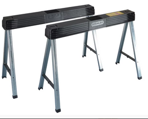 Stanley Folding Metal Leg Sawhorses (Twin Pack)