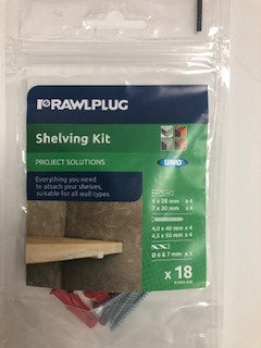 Rawlplug Shelving Kit