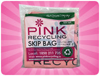 Pink Skip Recycling Baby Bag