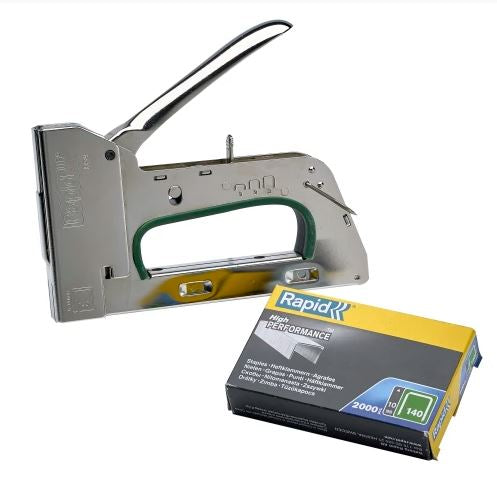 Rapid Heavy Duty Hand Tacker R34 with staples