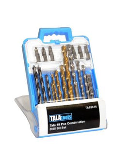 Tala combination 19 pce drill bit set