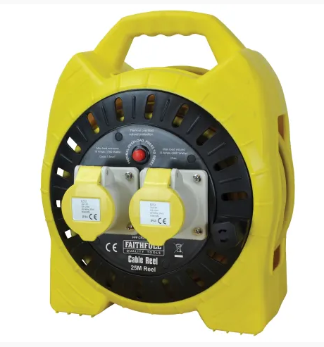 Cable Reel 110V 16A 2-Socket 25m