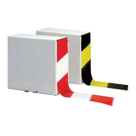 Warning Barrier Tape 70mm x 500m – Red/White