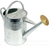 Watering Can Galv c/w Rose 9.5lt