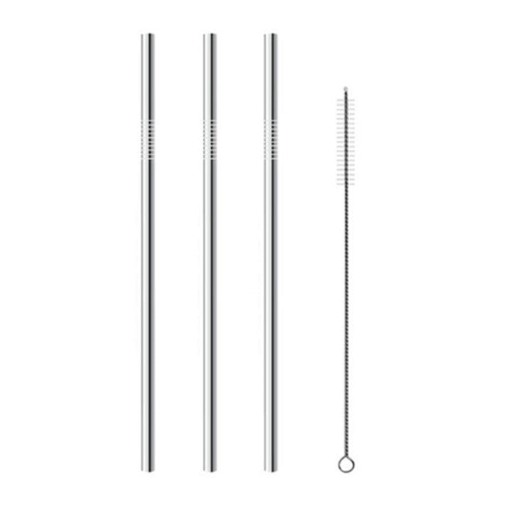 SET BOMBILLA ACERO INOX RECTA 21,5 CM X 6MM