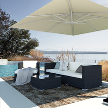 Load image into Gallery viewer, 4 Piece Outdoor Wicker Sectional Seating Group with Cushions