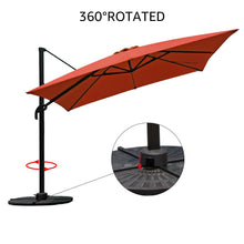 Load image into Gallery viewer, 10ft Offset Rectangular Cantilever Patio Umbrellab
