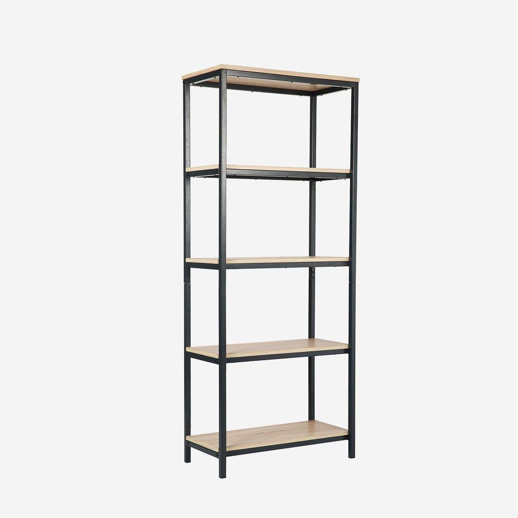 4 Shelf Wood Modern Etagere Bookcase