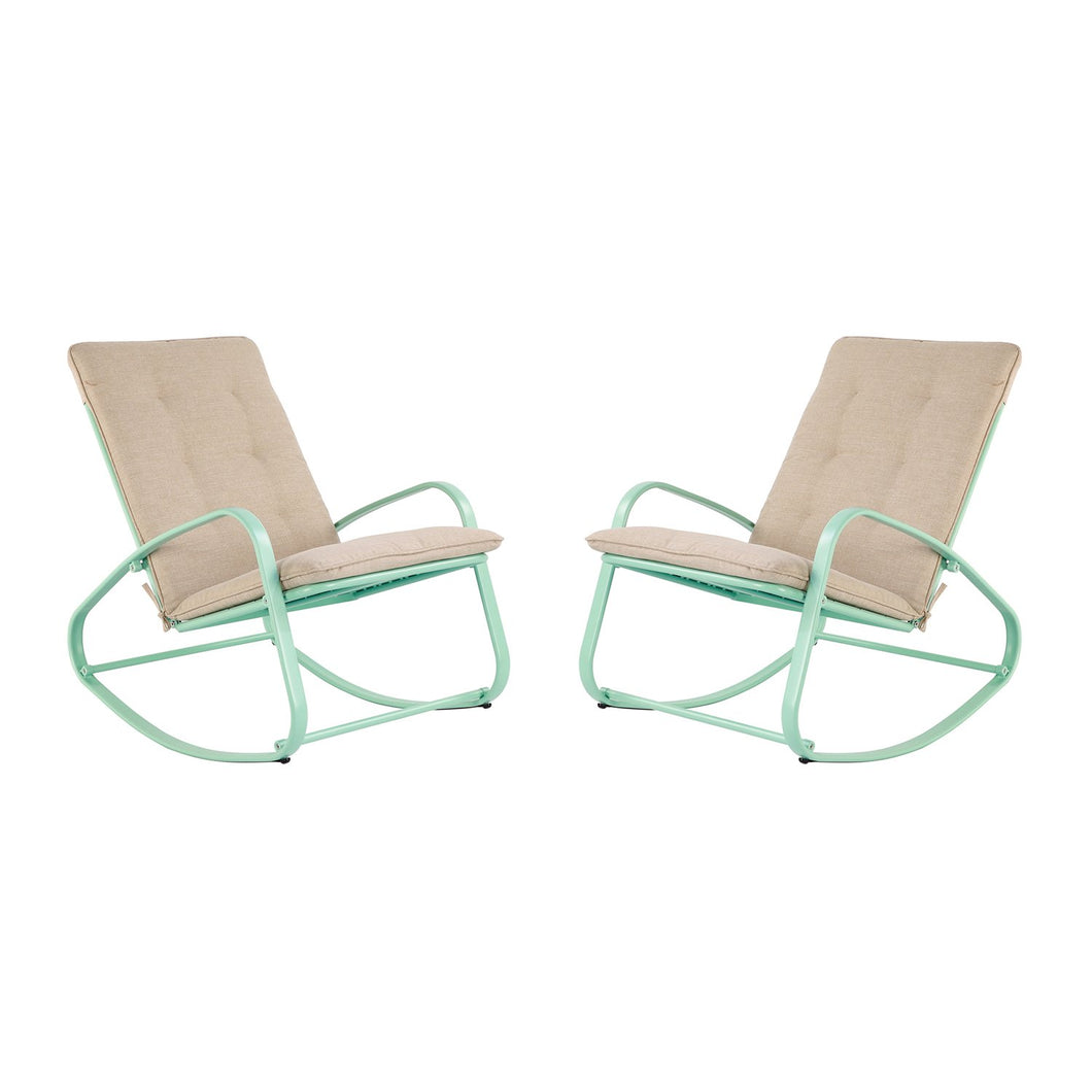 Rocking Chairs with Removable Padded Cushion(Set of 2£©