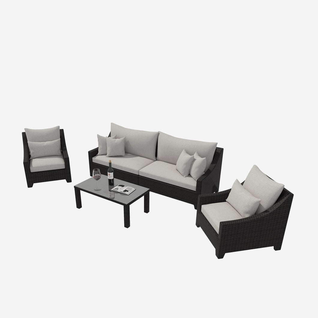 5 Piece Patio Sofa Conversation Funiture Set with Cushions