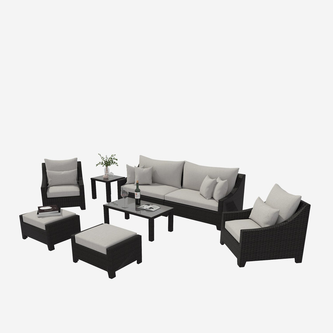 8 Piece Cushioned Outdoor Sofa Conversation Seating Group