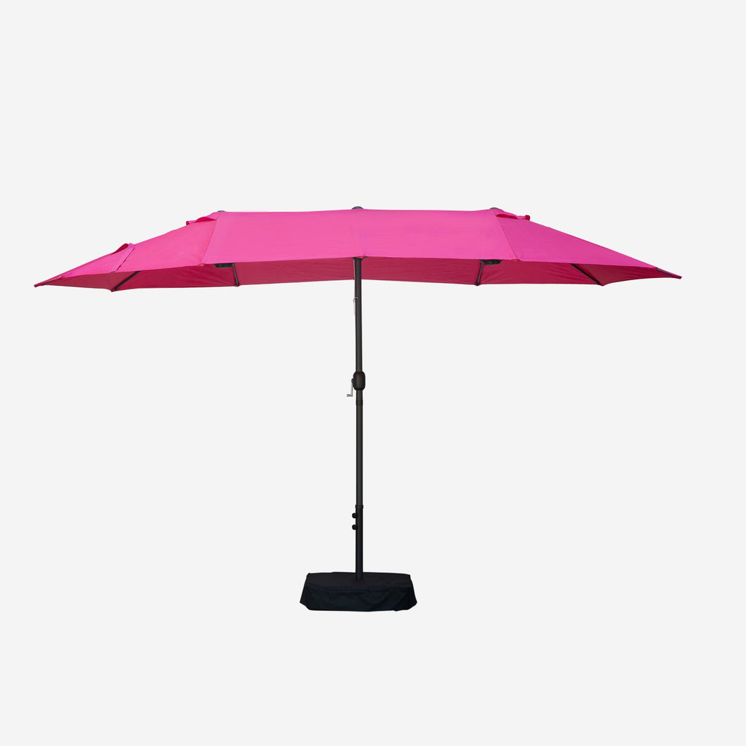 15ft Rectangular Market Umbrella with Base