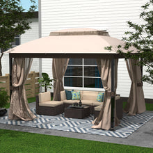 Load image into Gallery viewer, 10 x 12 Patio Double Roof Gazebo with Mosquito Netting