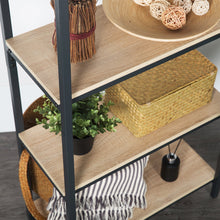 Load image into Gallery viewer, 4 Shelf Wood Modern Etagere Bookcase