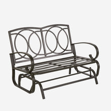 Load image into Gallery viewer, Outdoor Glider Swing Bench with Cushions