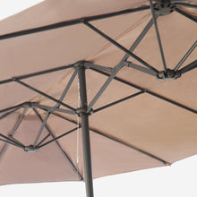 Load image into Gallery viewer, 15ft Rectangular Market Umbrella with Base