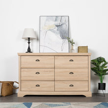 Load image into Gallery viewer, 6 Drawer Double Dresser