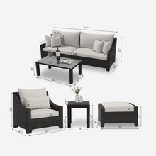 Load image into Gallery viewer, 8 Piece Cushioned Outdoor Sofa Conversation Seating Group