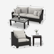 Load image into Gallery viewer, 6 Piece Outdoor Sofa Conversation Seating Group with Cushions