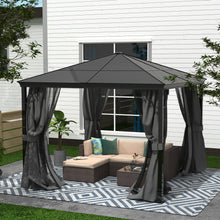 Load image into Gallery viewer, 10 x 10 Hardtop Aluminum Patio Gazebo with Mosquito Netting