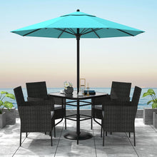 Load image into Gallery viewer, 5 Piece Outdoor Dining Table Set with Cushions