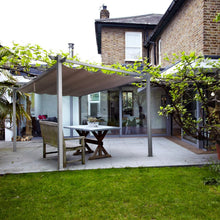Load image into Gallery viewer, 10 x 13 Flat Hanging Mental Pergola with Canopy, Khaki