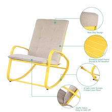 Load image into Gallery viewer, Rocking Chairs with Removable Padded Cushion(Set of 2£©