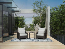 Load image into Gallery viewer, 3 Piece Modern Outdoor Wicker Conversation Set with Cushions