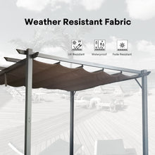 Load image into Gallery viewer, 10 x 10 KD Tent Mental Pergola with Canopy, Khaki