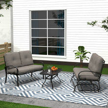 Load image into Gallery viewer, 3 Piece Metal Conversation Set with Cushions