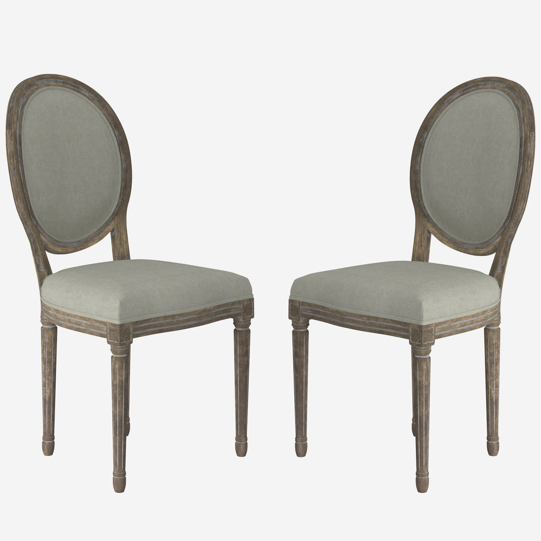Upholstered Round Dinning Side Chair (Set of 2)