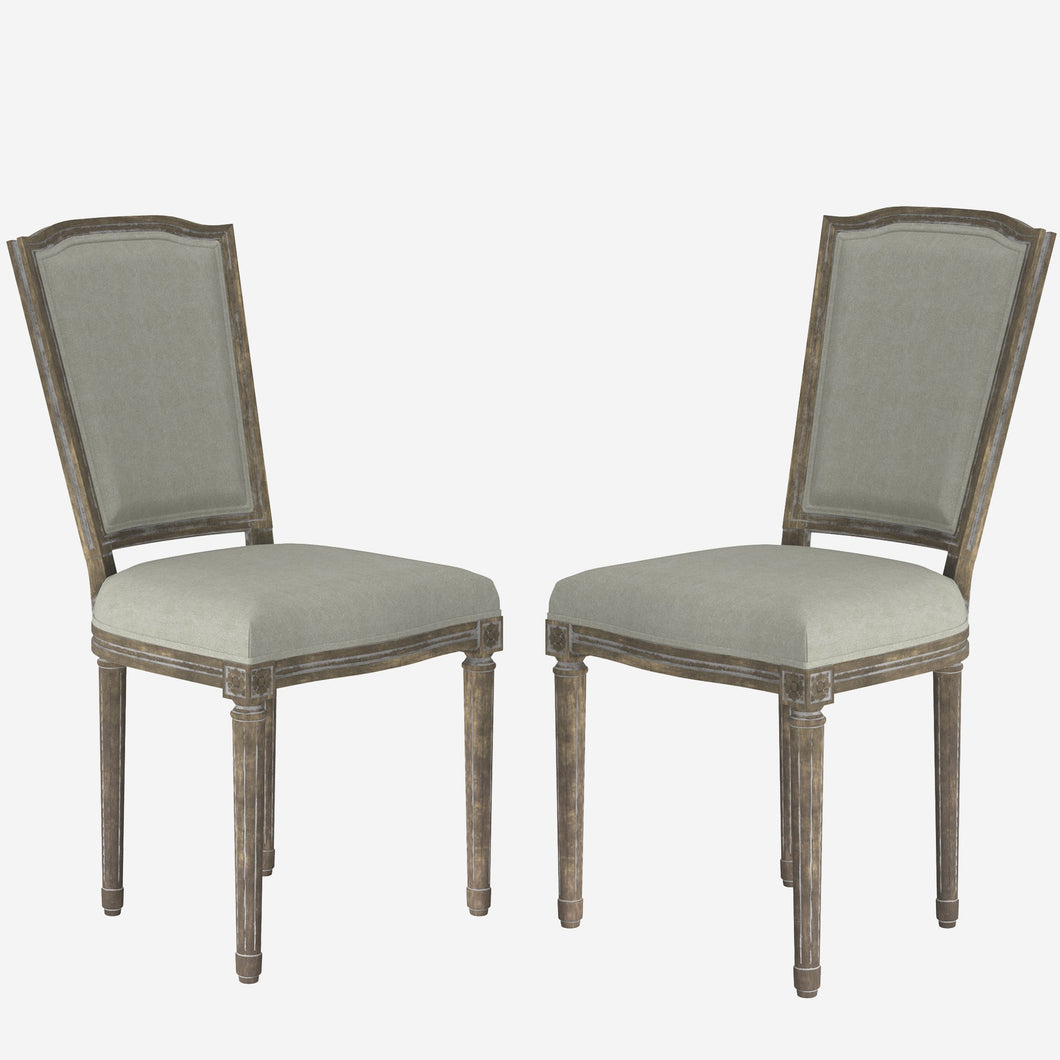 Upholstered Square Dinning Side Chair (Set of 2)