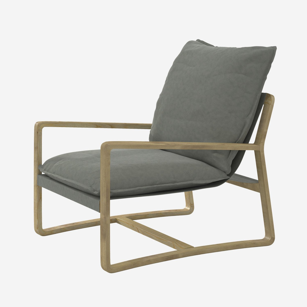 Wooden Arm Lounge Chair