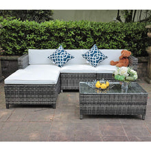 Load image into Gallery viewer, 5 Piece Patio Furniture Set All-Weather Sectional Sofa Conversation Furniture Set