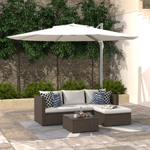 Load image into Gallery viewer, All-Weather 3 Piece Rattan Sectional Seating Group with Cushions