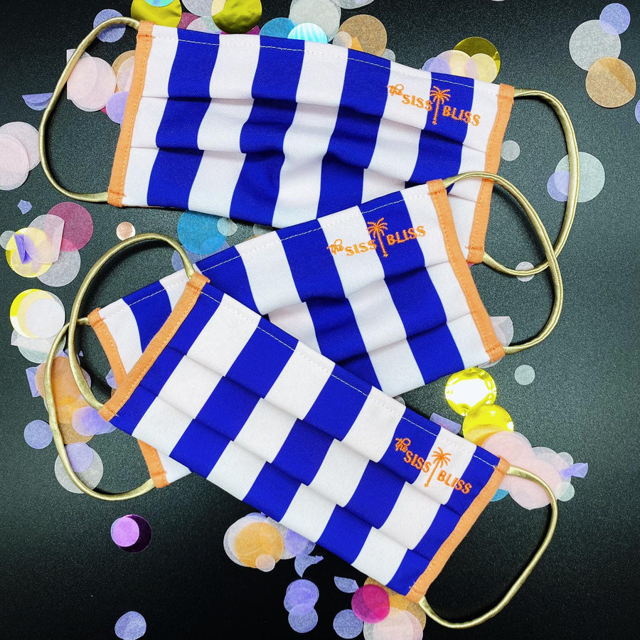 MASK SET - STRIPES BLUE