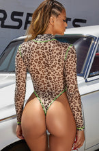 Load image into Gallery viewer, Sheer Leopard Print Body Suit