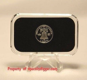 Air-tite Direct Fit Capsule Holder for 1 GRAM Silver Bar Acrylic Case Airtite