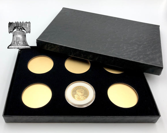 Air-tite Coin Holder Storage Box Silver Gold Reflector & 6 MODEL H 26-32mm or 38/39/40mm Direct Fit Capsule