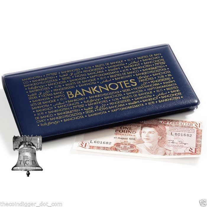 Lighthouse Banknote Pocket Album Wallet Case Currency Holder Paper Money Book