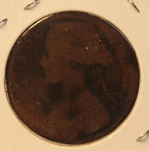Load image into Gallery viewer, 1863 United Kingdom Great Britain Penny Coin and Display Holder Thecoindigger