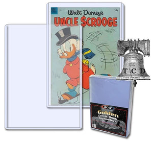 1 BCW Golden Age Comic Book Holder 38-55 Topload 8x11x5mm Plastic Rigid Case