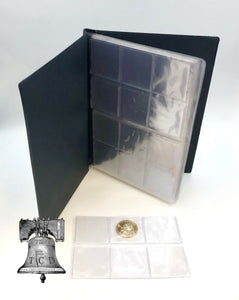 96 Pocket Coin Album Wallet Holder Lighthouse 8 Sheet Pages NUMIS Half Dollar