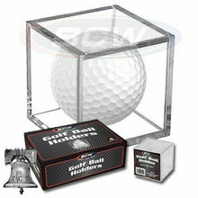 Load image into Gallery viewer, 1 Golf Ball Holder Display Square Case BCW 2x2x2 Stackable Cube Stand Protector