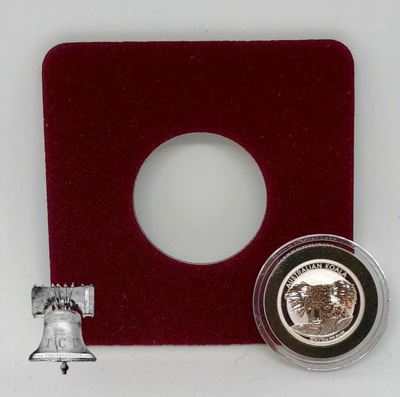 Air-tite Coin Holder Red Velvet Display Card Insert + Model A Capsule Case 10-19mm