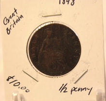 Load image into Gallery viewer, 1898 Great Britain 1/2 Penny Coin with Holder  thecoindigger World Coin Estates
