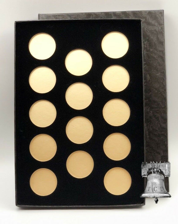 Air-tite Coin Holder Black Velvet Display Box Gold Insert Model A Storage Case